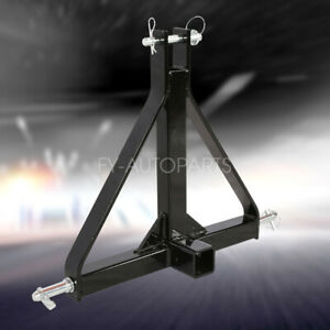 New 3 Point 2 Receiver Trailer Hitch Category 1 Tractor Tow Drawbar Adapter