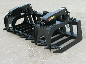 84 Dual Cylinder Root Rake Grapple Attachment Fits Global Euro Quicke Loader