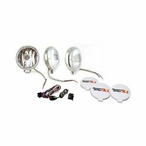 Rugged Ridge Halogen Off Road Lights 100w Round 6 Dia Clear Lens 1520868