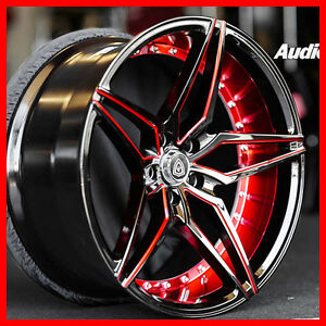 4pcs 20 Marquee M3259 Wheel Deep Concave black Red Fit Camaro Ss