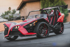 Polaris Slingshot 20 Staggered Marquee Wheels M3259 Black Red