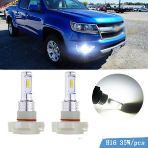 2x 35w White 6000k 5202 H16 Led Fog Light Bulbs For Chevrolet Colorado Silverado