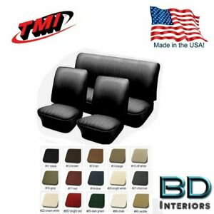 1958 1964 Vw Volkswagen Bug Convertible Seat Upholstery Any Color Front rear