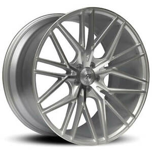 4 22 Staggered Road Force Wheels Rf13 Silver Machined Rims B30