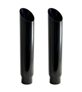 Diesel Truck Exhaust 5 In 8 Out 36 Tall Miter Cut Pypes Polished Stack Tips