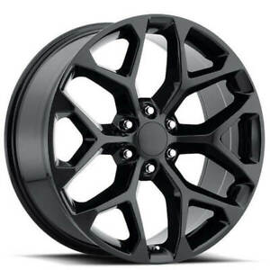 4 20 Chevy Truck Snowflake Wheels Fr 59 Gloss Black Oem Replica Rims B30