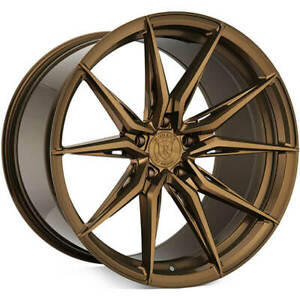 4 20 Staggered Rohana Wheels Rfx13 Brushed Bronze Rims b4