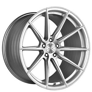 4 19 20 Staggered Vertini Wheels Rfs1 1 Silver With Brushed Face Rims b7