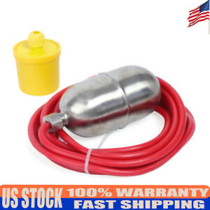 4m Line Stainless Steel High Temperature Mercury Float Switch Level Water Switch