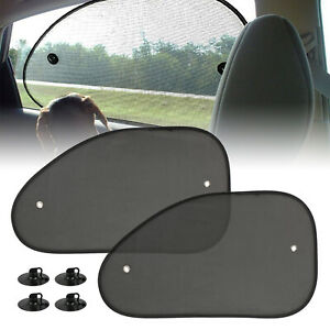 2pcs Car Windshield Front Rear Side Window Sunshade Sun Shade For Car Visor Mesh