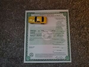 1932 Ford Roadster Model A Body Paperwork Document Original Street Rod Rat Rod