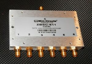 Mini circuits Zbsc 611 10 200 Mhz Sma f Power Splitter Combiner 6 Way 50ohm
