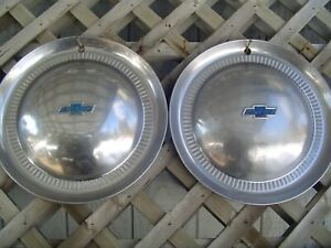 Two Vintage 1953 53 Chevrolet Chevy Impala Bel Air Nomad Wheel Covers Hubcaps