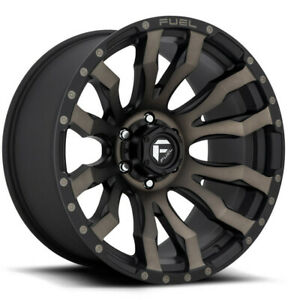 20x10 Matte Black Tint Wheels Fuel D674 Blitz 6x5 5 6x139 7 18 Set Of 4