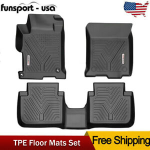 For 2013 2017 Honda Accord Sedan 4 Dr Floor Mats Liner Heavy Duty Rubber Tpe 3d