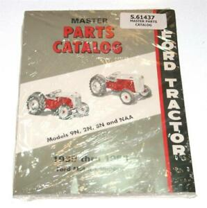 Master Parts Catalog For Ford 9n 2n 8n Naa Tractor