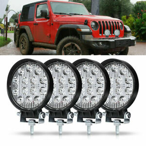 Led Work Light Spot Lights For Truck Off Road Tractor Atv Round 42w New
