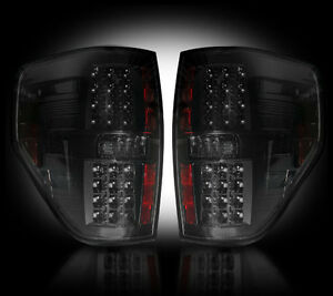 2009 2014 Ford F 150 Svt Raptor Rear Led Tail Lights With Smoked Lens Finish