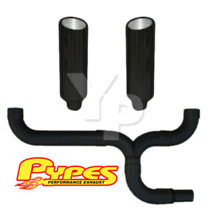 10 Slant Black Double Stack Stainless Pypes Exhaust Kit Dodge 2500 3500 Diesel