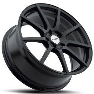 4 18 Staggered Tsw Wheels Interlagos Matte Black Rotary Forged b31