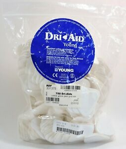 Young Dental 331375 Dri aids Cotton Roll Substitute White Large 750 Ct 12 2015