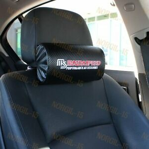 2pcs Mazdaspeed Carbon Look Embroidery Car Seat Neck Rest Pillow Headrest