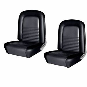 1967 Mustang Front Rear Seat Upholstery Black Made By Tmi