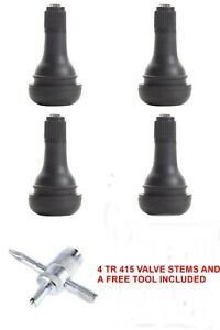 Four New Tr418 2 Length Tubeless Tire Valve Stems Free Tool Free Ship