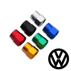 Hex Volkswagen Vw Emblem Car Wheels Tire Air Valve Caps Stem Dust Cover Sport