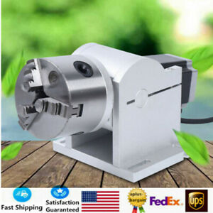80mm Laser Marking Machine Rotary Axis Engraver Rotating Fixture Universal Usa