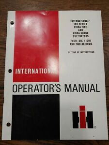 International Ih Operators Manual Set up 183 Vibra Tine Shank Cultivators 30
