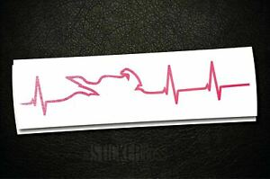 Heartbeat Street Bike Life Decal Sticker _ Pick Size And Color