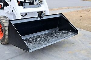 74 Low Profile Smooth Bucket Attachment General Purpose Fits Skid Steer Loader