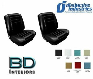 1965 Chevy El Camino Front Bucket Seat Upholstery By Distinctive Ind Any Color