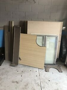 Lot Of Svok Office Partitions Cubicles Dividers Panels With Glass Connectors
