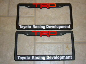 Trd License Plate Frames Red And White Lettering Supra Tacoma Tundra Scion