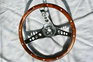 Vintage Superior 500 Wood Steering Wheel Very Nice Refinished 13
