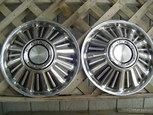 1967 67 Ford Fairlane Galaxie Hubcaps Wheelcovers Center Caps Antique Vintage