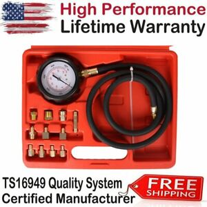 Transmission Engine Oil Pressure Tester Diagnostic Brass Adapters 1000 Psi New