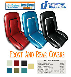 1967 Camaro Deluxe Front Rear Seat Upholstery In Any Color By Distinctive Ind