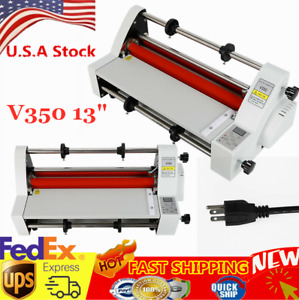 Hot Cold Roll Laminator 350mm Four Rollers Hot And Cold Roll Laminating Machine