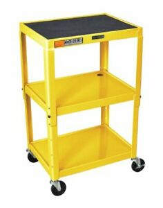 Luxor Adjustable Height Yellow Metal A v Cart