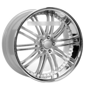 4 22 Staggered Xix Wheels X23 Silver Machine With Ss Lip Rims B31
