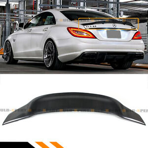 For 12 17 Mercedes W218 Cls63 Cls500 Cls550 Rt Style Carbon Fiber Trunk Spoiler