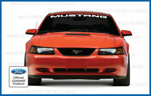 1994 2004 Ford Mustang Front Windshield Banner Decal Sticker Graphic V6 Gt M