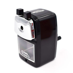 Carl Angel 5 Pencil Sharpener Black With Desk Clamp