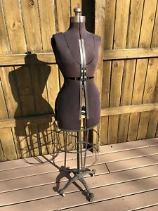 Antique Sewing Dress Form Adjustable Mannequin Dummy Metal Skirt