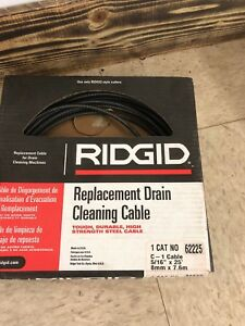 Drain Cleaning Cable 5 16 In X 25 Ft Ridgid 62225