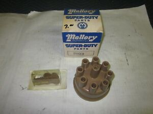 Nos Vintage Mallory Dual Point Distributor Cap 209b Rotor 309 Chevy Ford Dodge