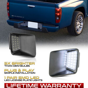 04 12 Chevy Colorado Gmc Canyon Smd Led Rear Bumper License Plate Light Lamp Set